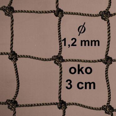 Háló 1,2 mm PA fonalból, szem 30 mm zöld